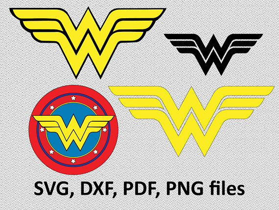 570x428 Wonder Woman ( Svg, Dxf, Pdf, Png) Clipart Svg Files Cutting