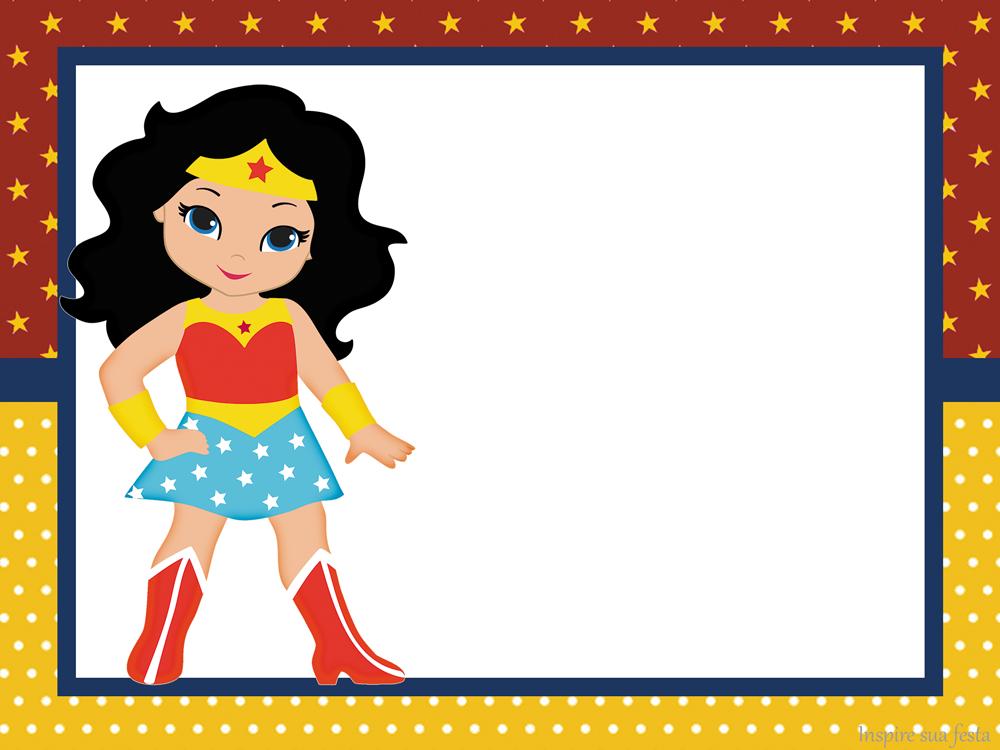 1000x750 Wonder Woman Chibi Free Printable Invitations.