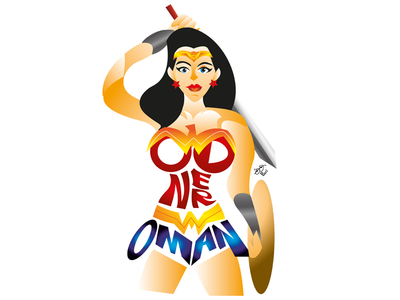 400x300 Wonder Woman Typography By Pariselvam