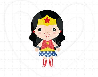 340x270 Cute Wonder Girl Clip Art Clipart Panda