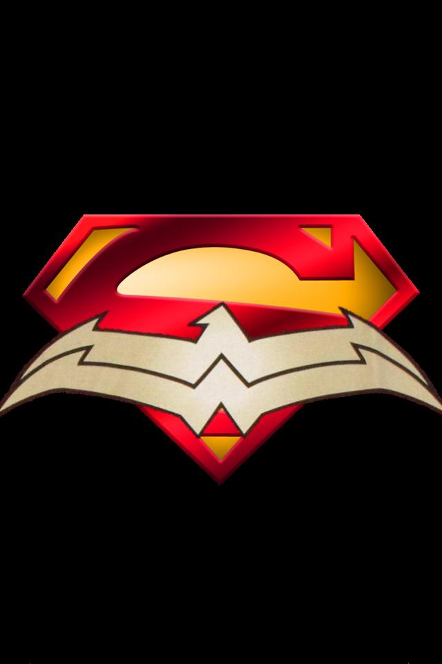 640x960 New 52 Superman Symbol And Wonder Woman Symbol By Mayantimegod
