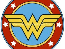 picture relating to Wonder Woman Logo Printable known as Ponder Lady Brand Clipart at  Absolutely free for