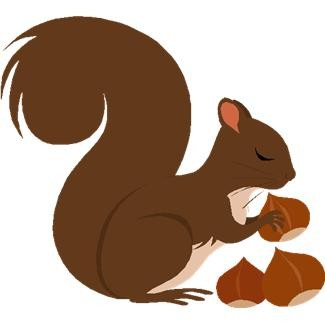 325x325 Free Squirrel Clipart