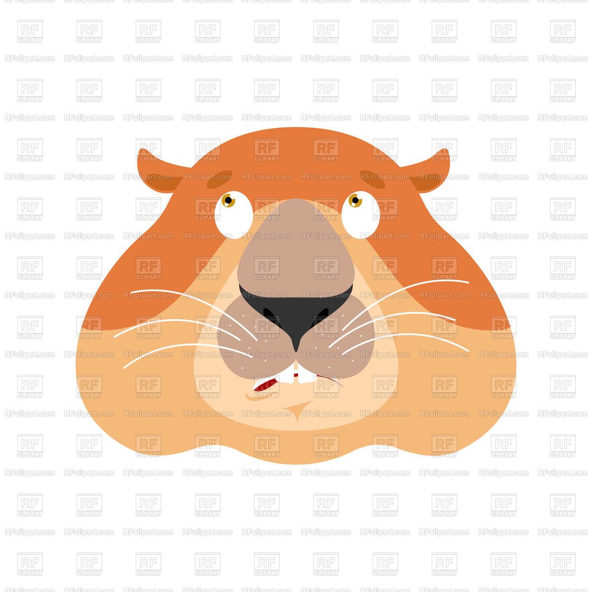 1200x1200 Groundhog Confused Emoji Royalty Free Vector Clip Art Image