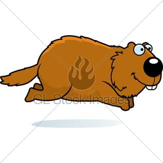 325x325 Cartoon Woodchuck Running Away Gl Stock Images