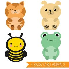 236x236 Cute Animal Clipart Set Mega Pack Of 20 Cute Animal Vector