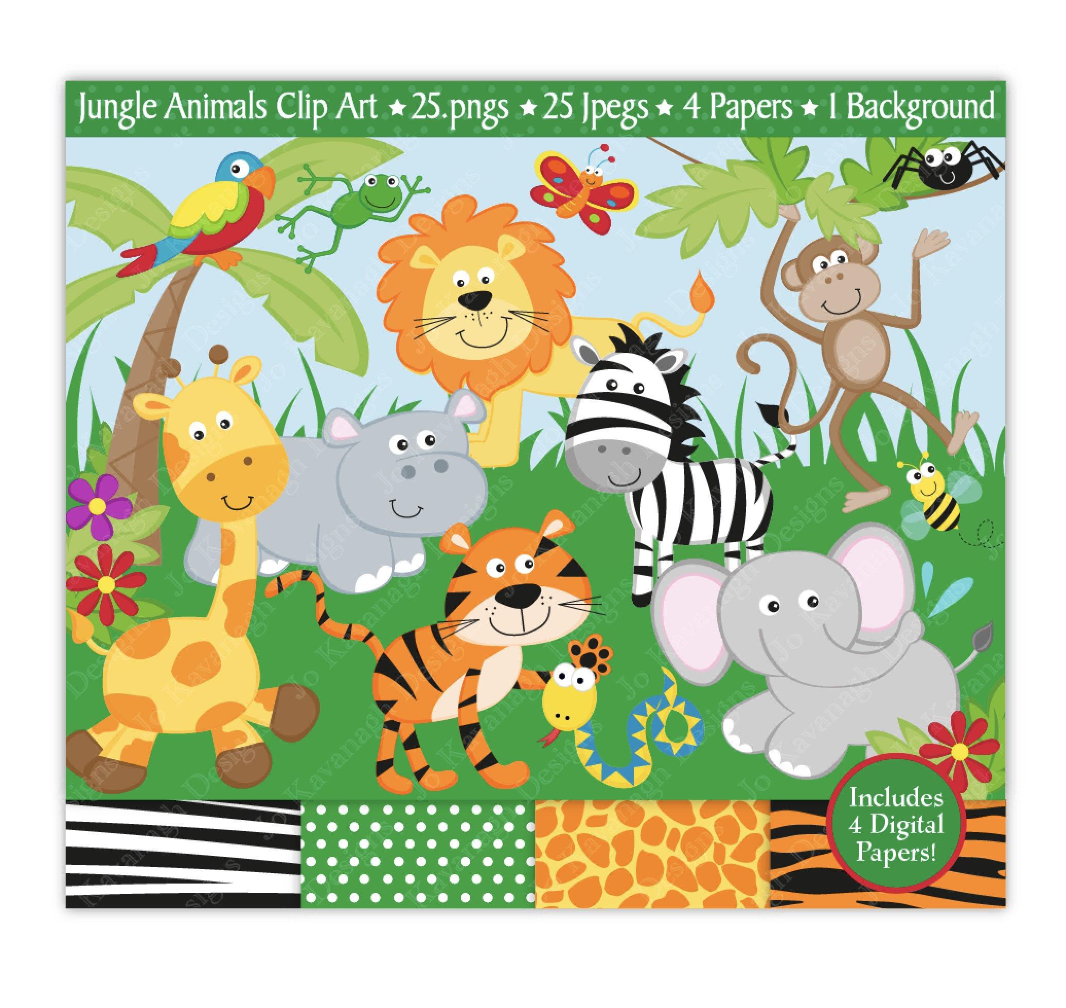 2072x1960 Jungle Clip Art, Jungle Digital Papers,jungle Clipart,jungle