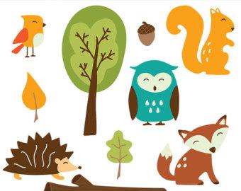 340x270 Woodland Animals Clip Art Images, Fox Clip Art, Fox Vector