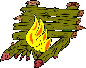 300x236 Fire Catching Wood Clip Art