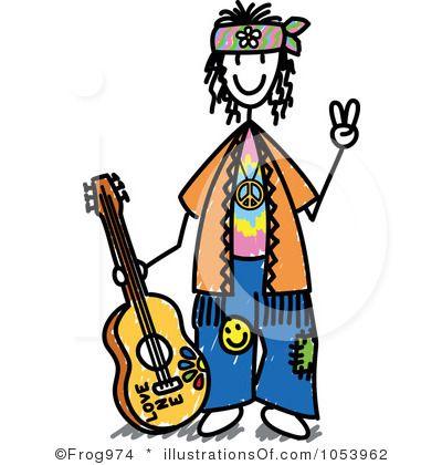 400x420 Fancy Hippie Clipart Hippie