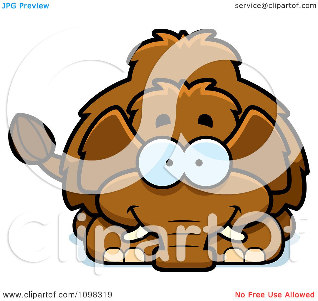 1080x1024 Clipart Happy Wooly Mammoth