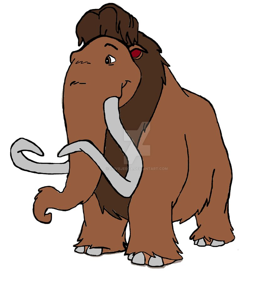 875x913 Ice Age Animated Films Manfred The Woolly Mammoth By Leivbjerga