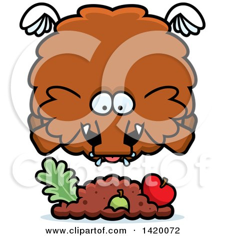 450x470 Royalty Free (Rf) Clip Art Illustration Of A Woolly Mammoth By