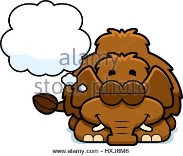 376x320 A Cartoon Illustration Of A Woolly Mammoth Sleeping Stock Vector