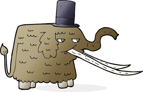 466x300 Cartoon Mammoth Premium Clipart