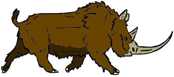 600x266 Woolly Rhinoceros By Danezilla
