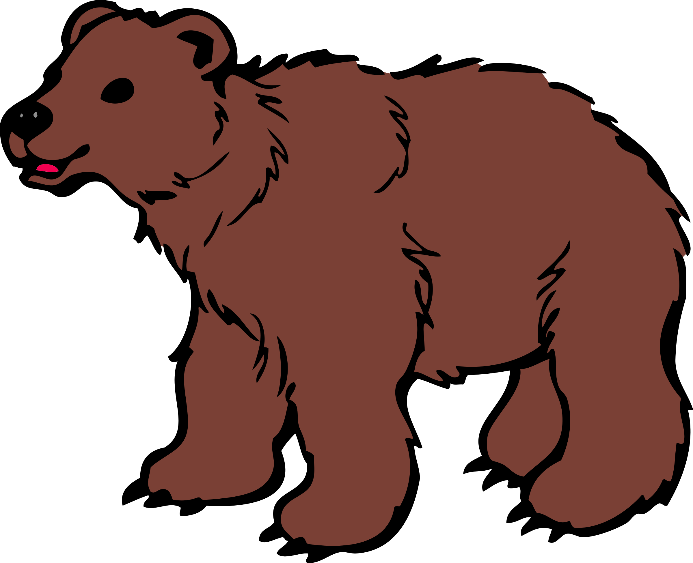 2400x1951 Brown Bear Clipart Polar Bear