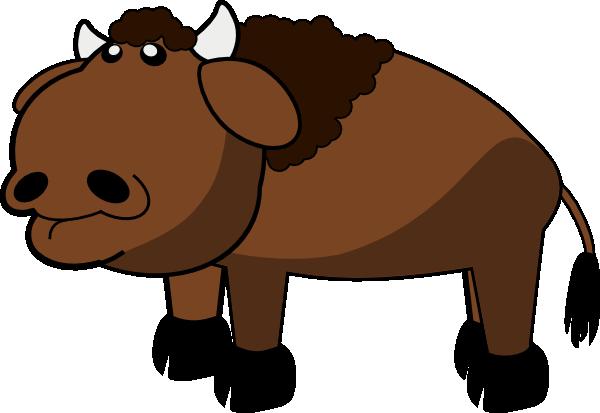 600x413 Cartoon Buffalo Clipart