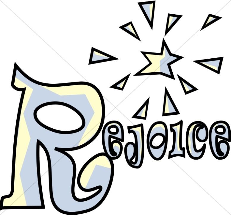 776x722 Fun Rejoice Word Art Inspirational Word Art