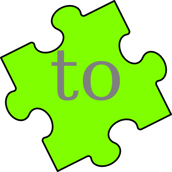 600x600 Puzzle Piece Word To Clip Art