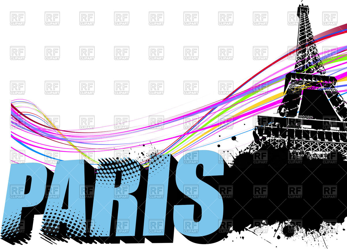 1200x863 Word Paris And Eiffel Tower On Grunge Background Royalty Free