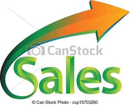 450x363 Sales Is Up. Illustration Of The Word Sales Clip Art Vector