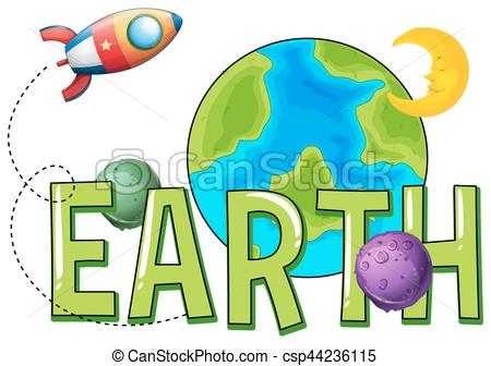 450x336 Word Design For Earth Illustration Vector Clip Art