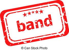 270x194 Band Word On Red Rubber Grunge Stamp Clip Art And Stock