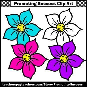 350x350 Flower Clip Art, Commercial Use Sps Summer School Activities