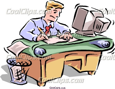 375x291 Busy Workers Clipart