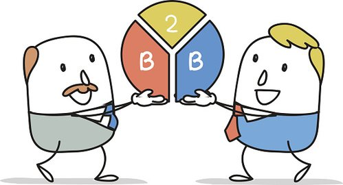 499x270 Two Businessmen Working Together Premium Clipart
