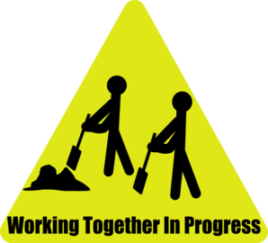 298x270 Working Together In Progress Clip Art