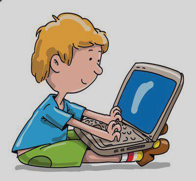 400x369 Boy Working Clipart