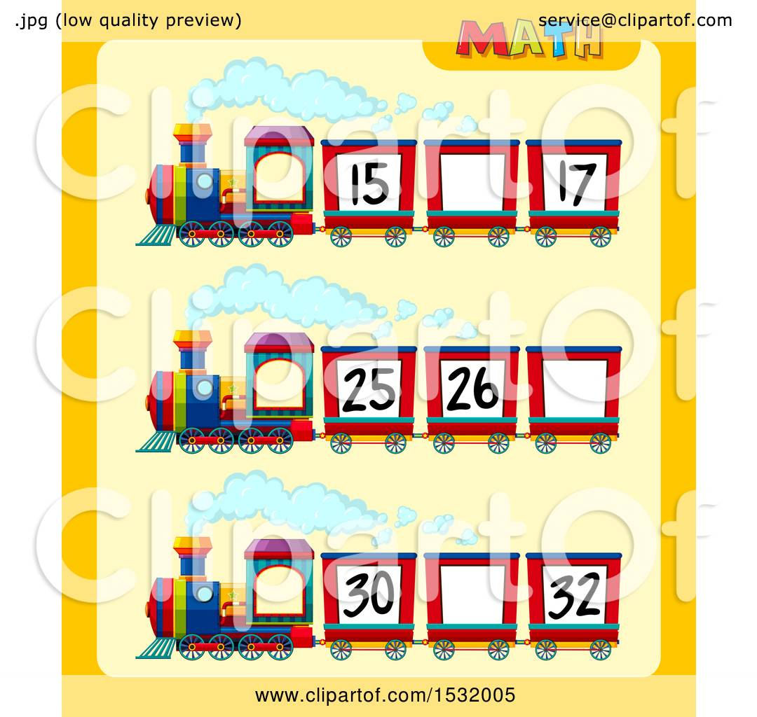 1080x1024 Clipart Of A Math Worksheet With A Train