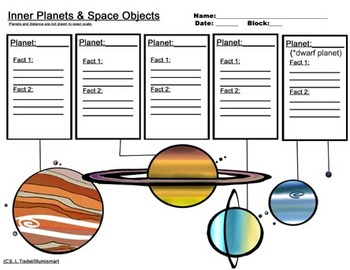350x270 Inner And Outer Planet Worksheets Bonus 4 Piece Clip Art Included!
