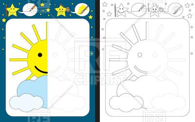 400x251 Preschool Funny Worksheet Royalty Free Vector Clip Art Image
