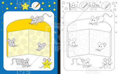 400x251 Preschool Worksheet Template With Mouse Royalty Free Vector Clip