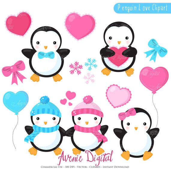 570x570 Printable Penguin Valentines Graphics