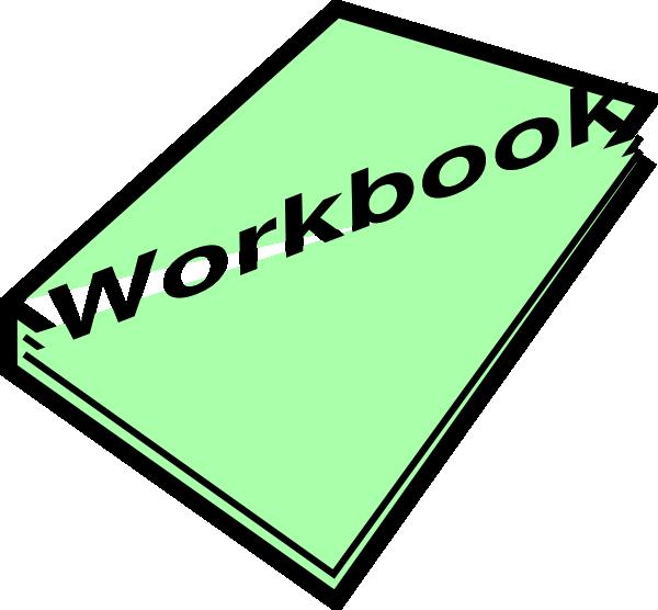 600x556 Workbook Pic Green Clip Art