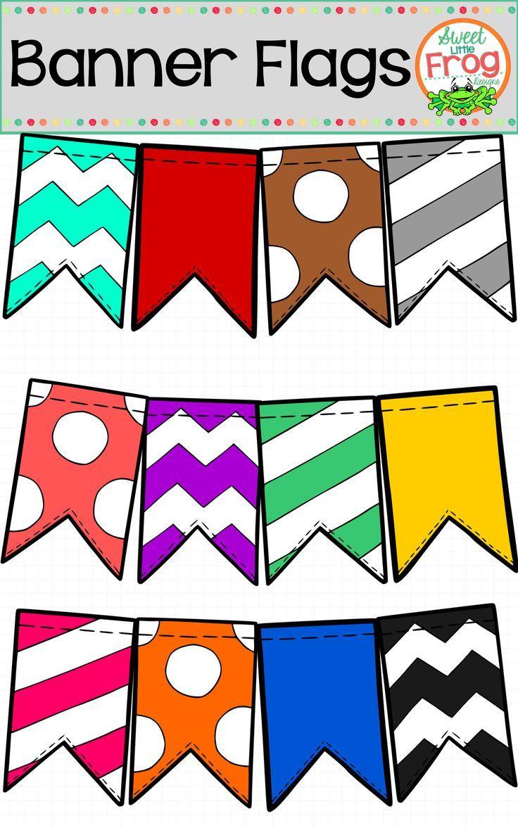 736x1177 Banner Flags In Bold Colors Clip Art Classroom Door, Classroom