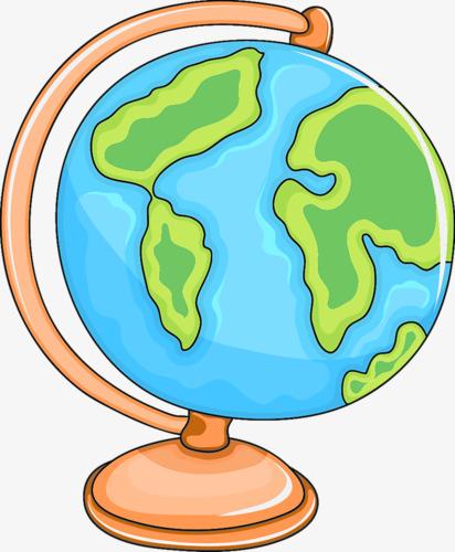412x500 Globe Cartoon Creative, Globe, Cartoon, Geography Png Image
