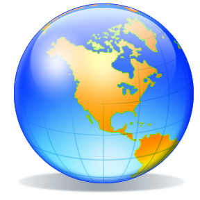 288x288 World Globe Clipart