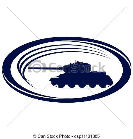 450x470 Tanks Of World War Ii 1. Contour Old Tank. Illustration