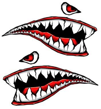353x380 World War Fighter Tiger Shark Teeth Gel Side Body Kit