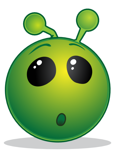 468x598 Smiley Green Alien Wow Clip Art Free Vector 4vector