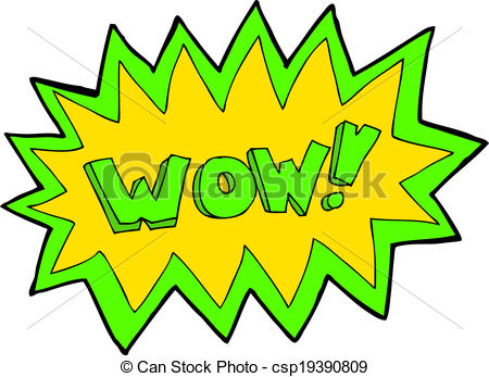 450x347 Cartoon Wow Explosion Vector Clipart