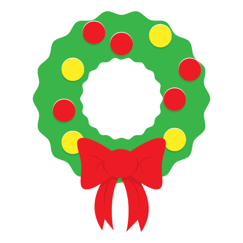 500x500 Christmas Wreath Clipart Free To Use Amp Public Domain Christmas