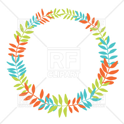 400x400 Floral Round Wreath Royalty Free Vector Clip Art Image