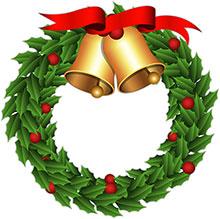 220x219 Free Christmas Wreaths Clipart