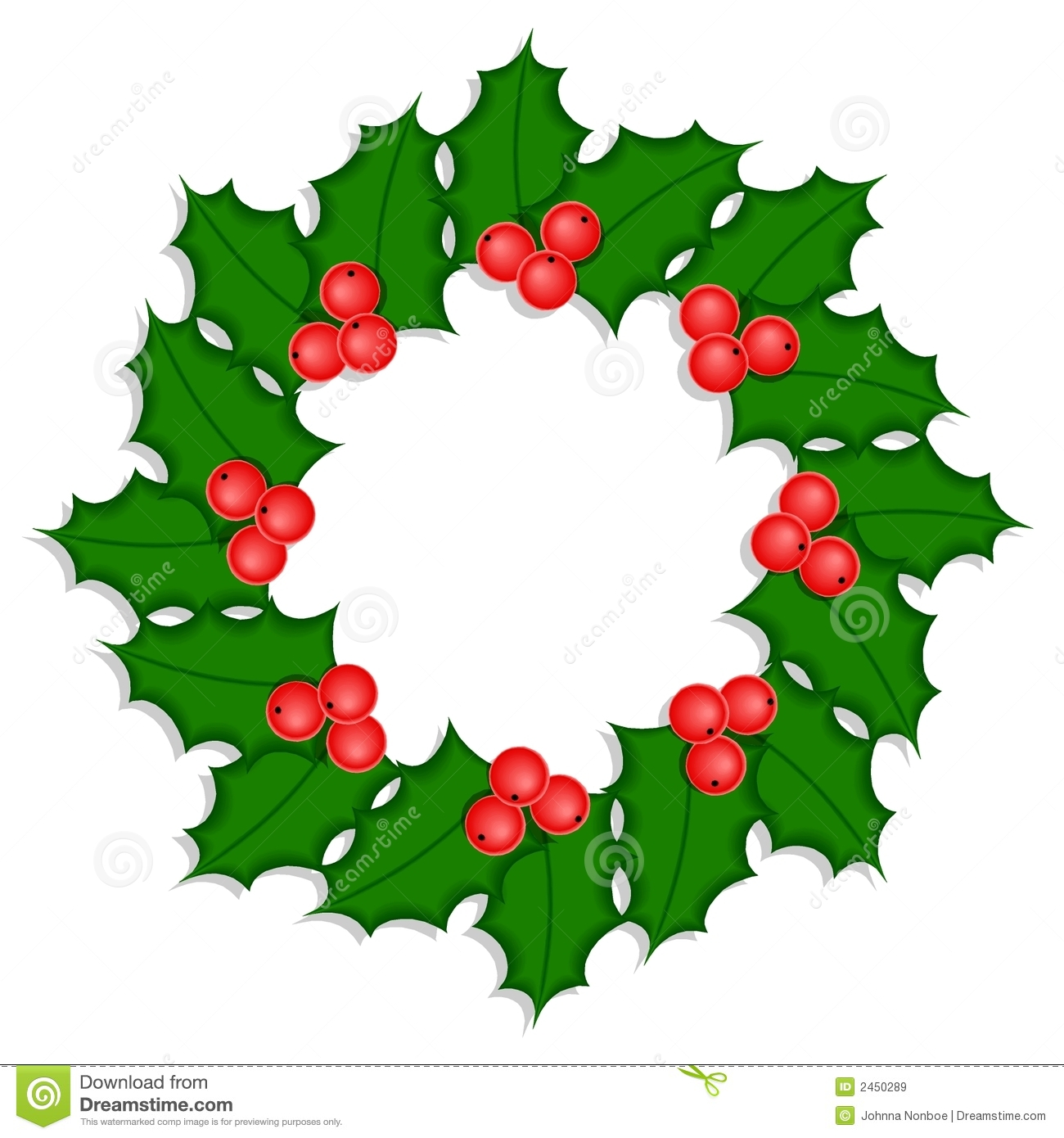 1300x1390 Holly Wreath Clipart